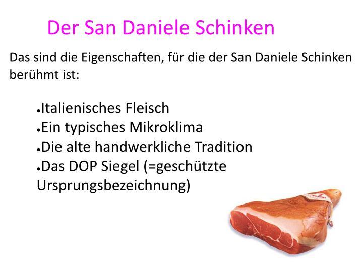 Der San Daniele Schinken