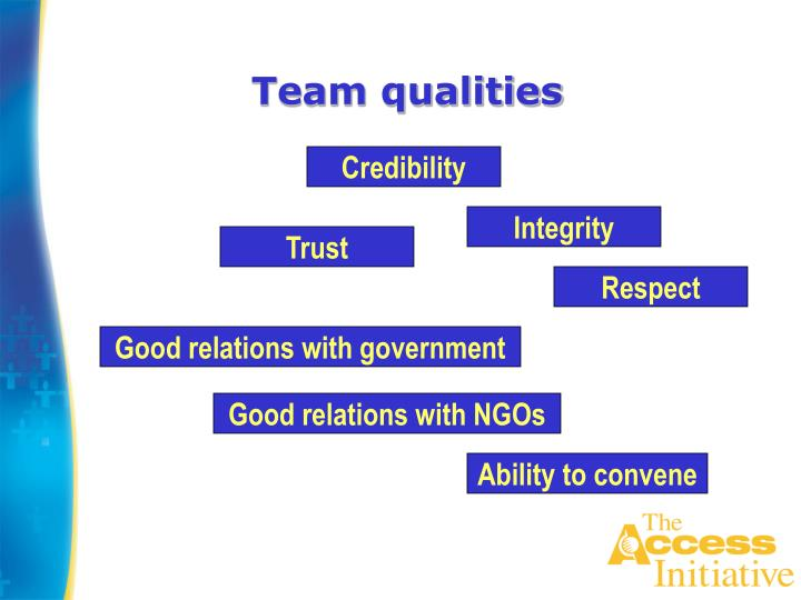 Team qualities