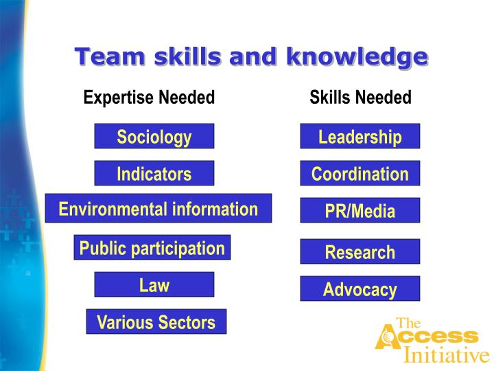 Team skills and knowledge