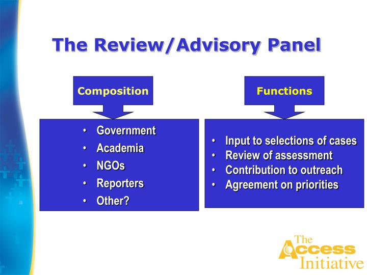 The Review/Advisory Panel