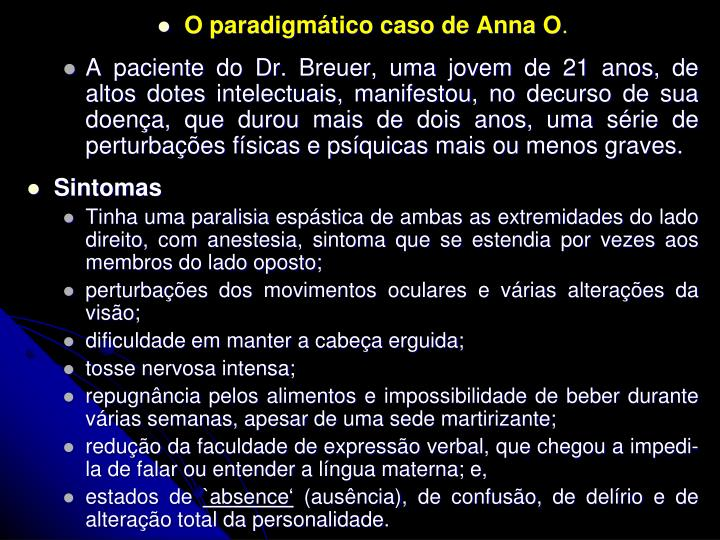 O paradigmtico caso de Anna