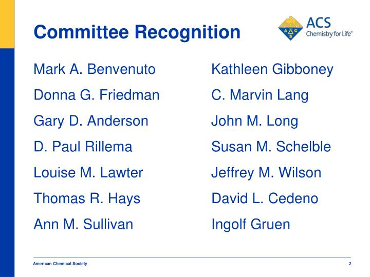 Committee Recognition