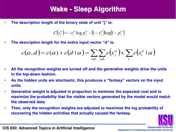 Wake - Sleep Algorithm