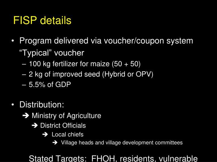 FISP details
