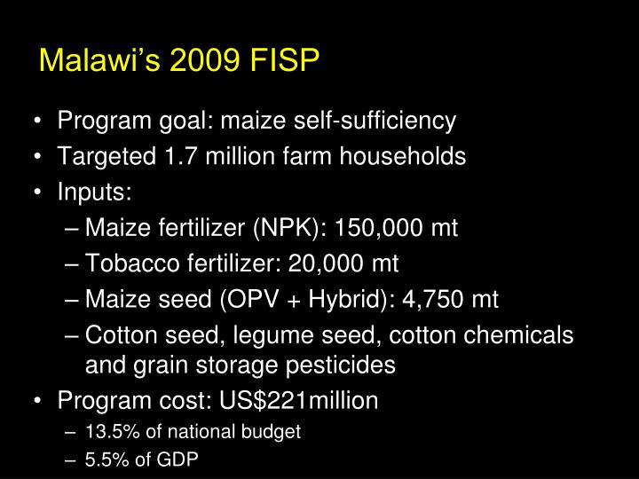 Malawi's 2009 FISP