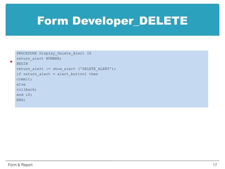Form Developer_DELETE