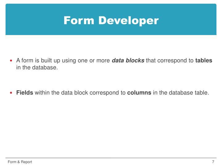 Form Developer