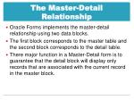 the master detail relationship1