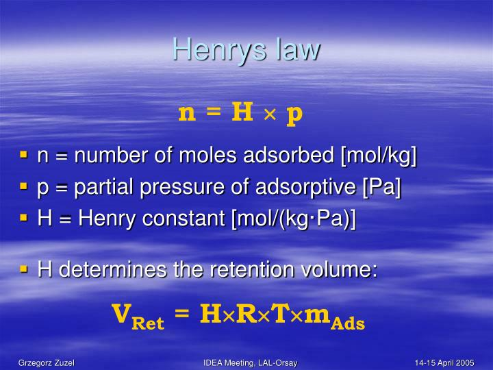 Henrys law