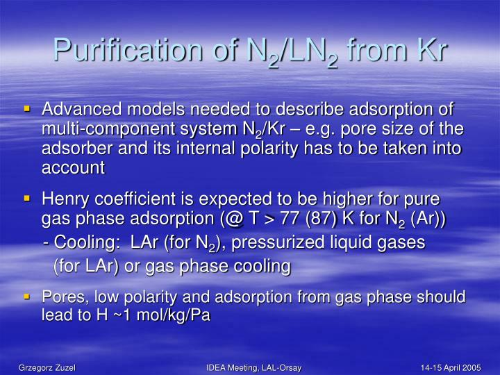 Purification of N