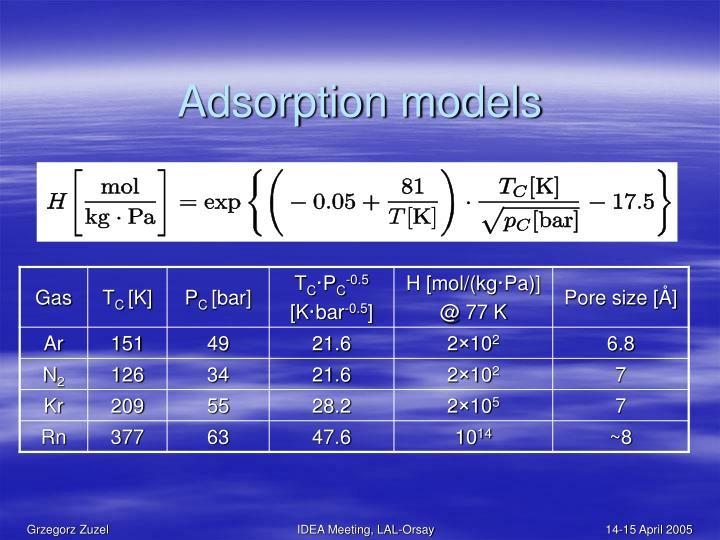 Adsorption models