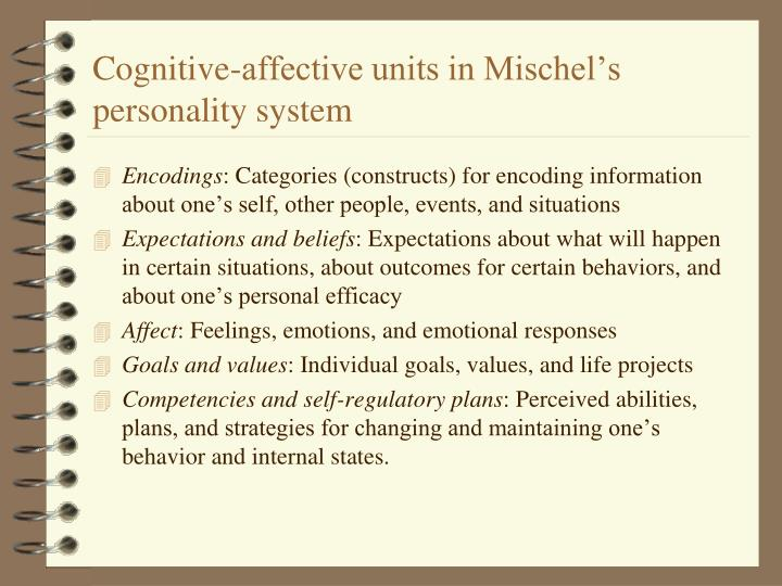 Cognitive-affective units in Mischel's personality system