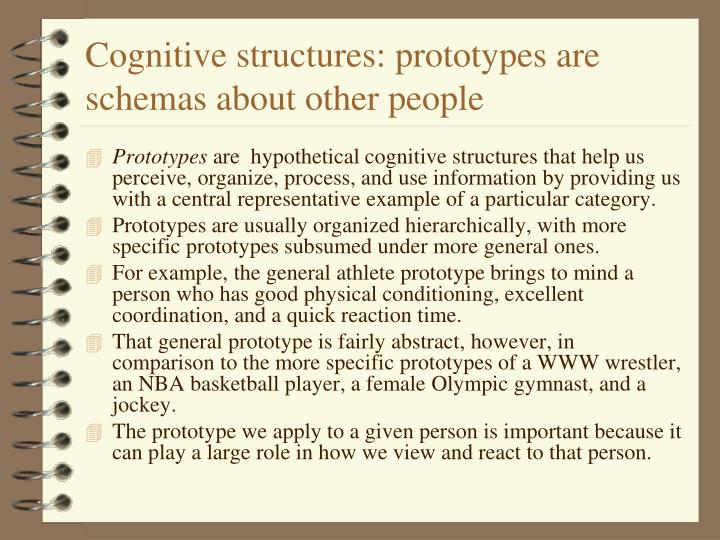 Cognitive structures: prototypes are schemas about other people