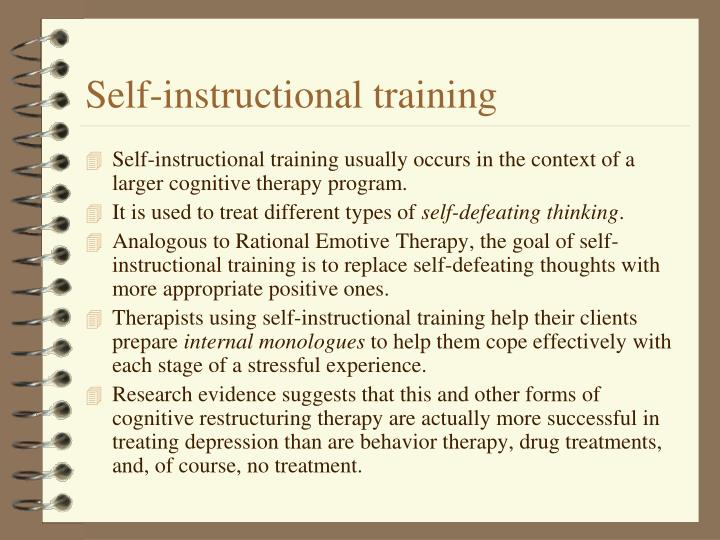 Self-instructional training
