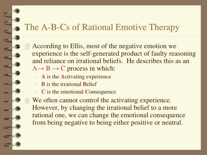 The A-B-Cs of Rational Emotive Therapy