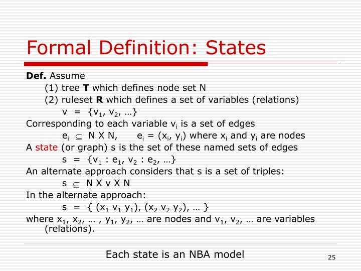 Formal Definition: States