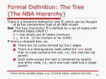 formal definition the tree the nba hierarchy