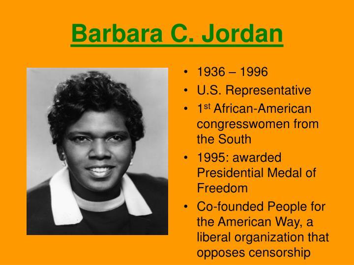 Barbara C. Jordan