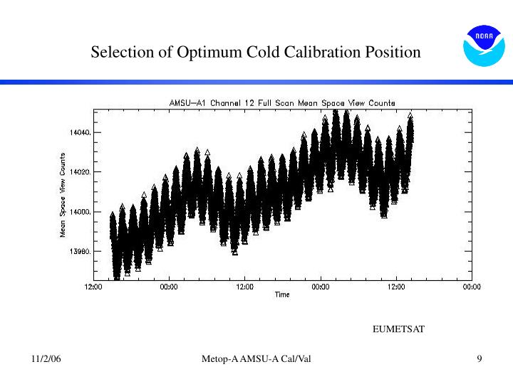 Selection of Optimum Cold Calibration Position