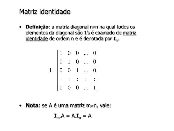Matriz identidade