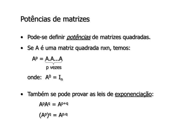 Potências de matrizes