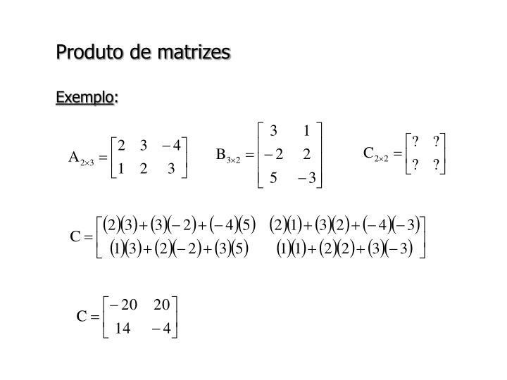 Produto de matrizes