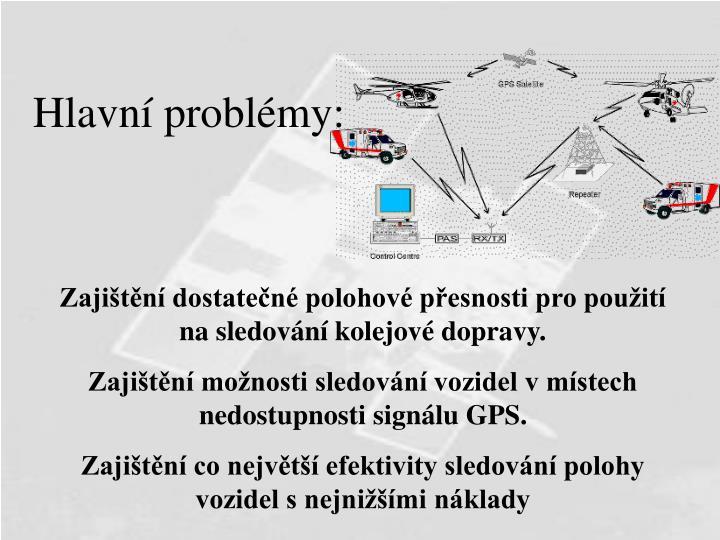 Hlavní problémy: