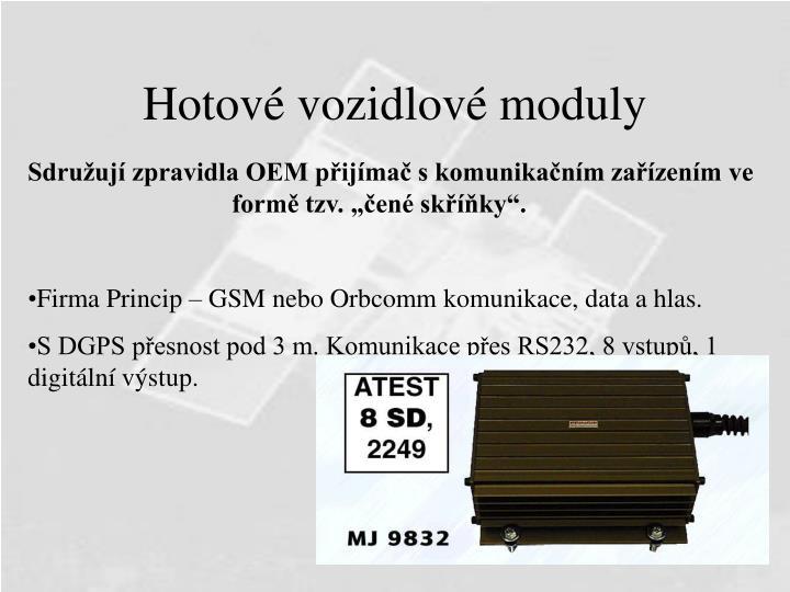 Hotové vozidlové moduly