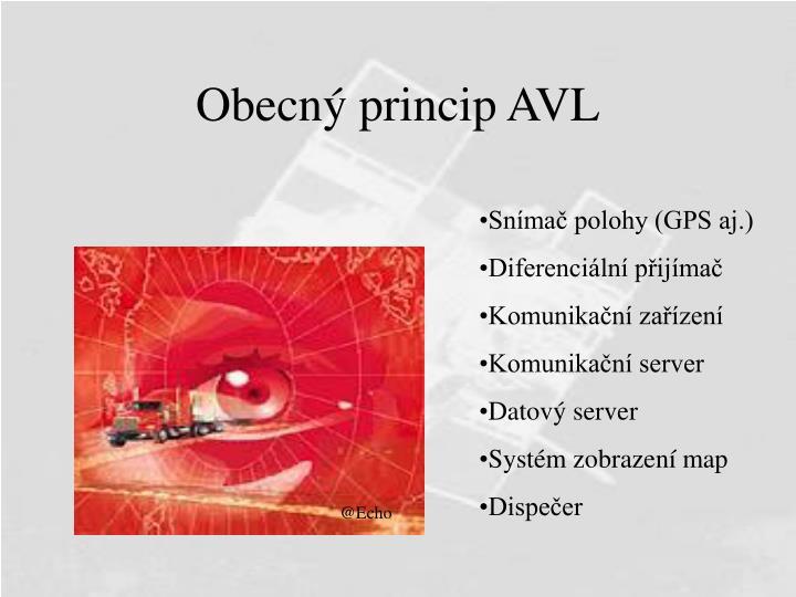 Obecný princip AVL