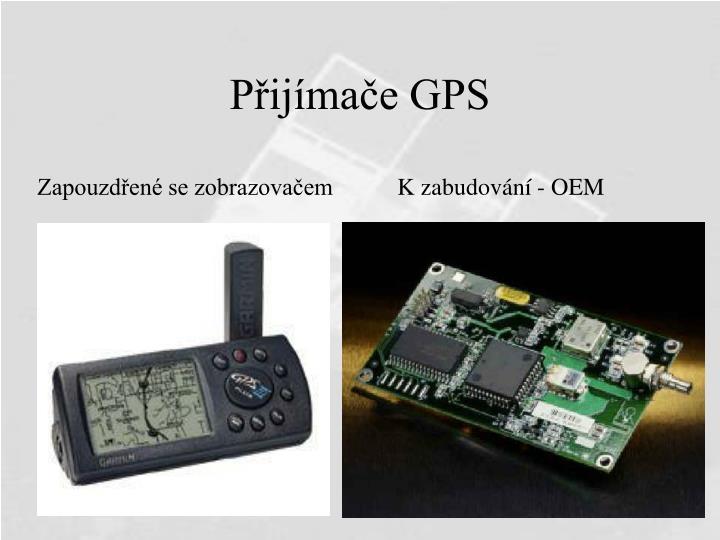 Přijímače GPS