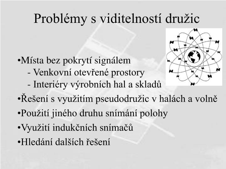 Problémy s viditelností družic