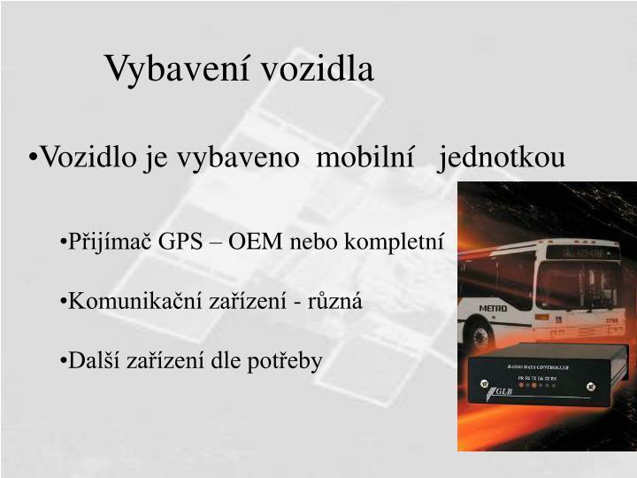 Vybavení vozidla