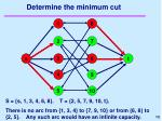 determine the minimum cut