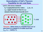 generalization of hall s theorem feasibility for min cost flows