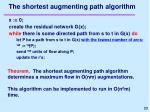 the shortest augmenting path algorithm
