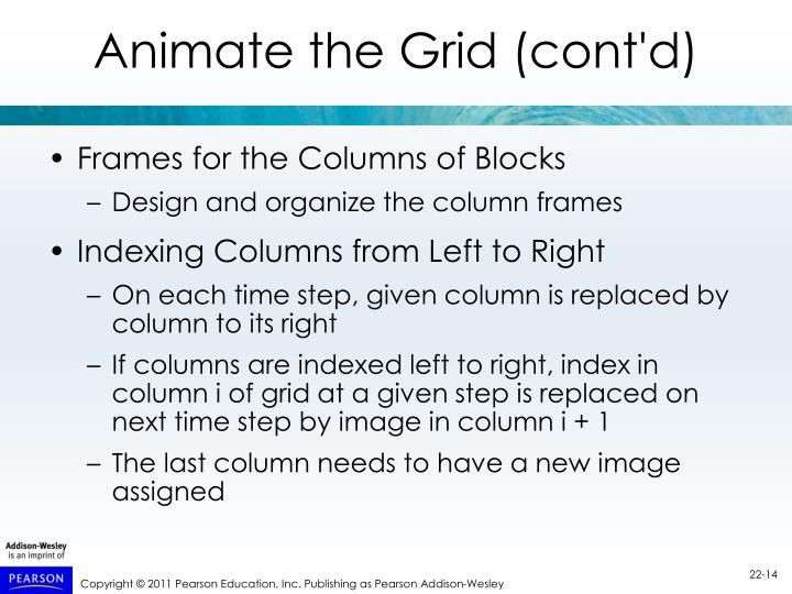 Animate the Grid (cont'd)