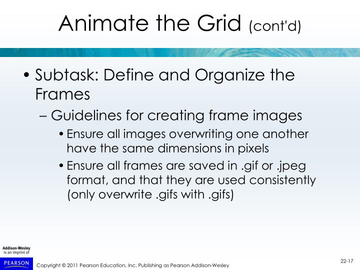 Animate the Grid