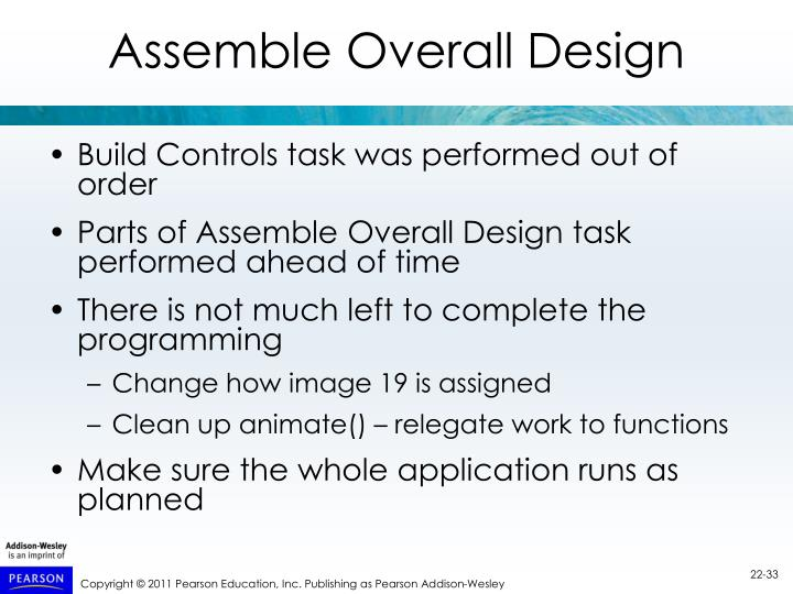 Assemble Overall Design
