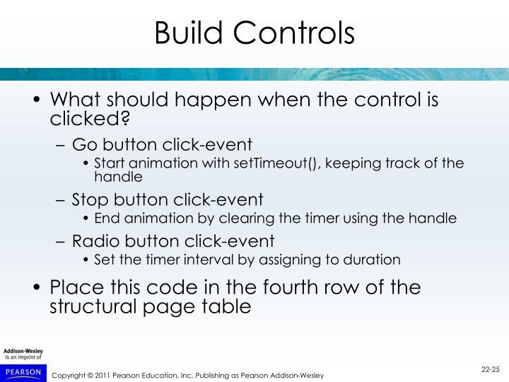 Build Controls