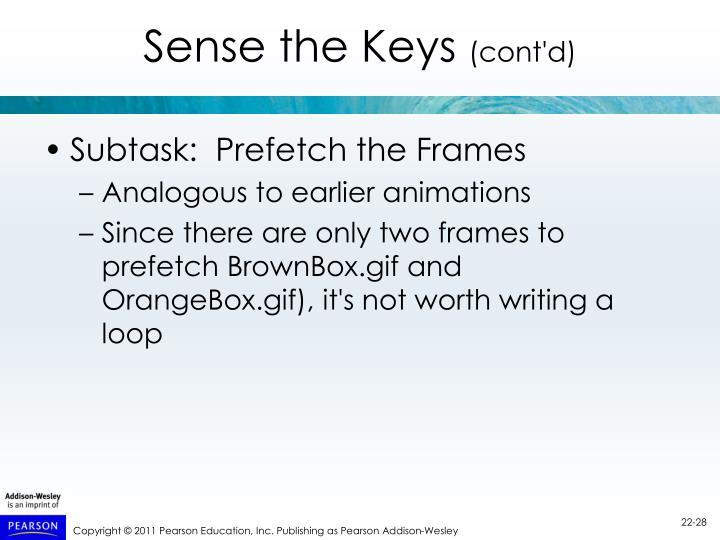 Sense the Keys