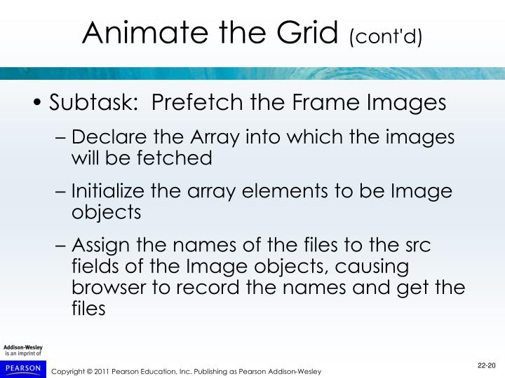 Subtask:  Prefetch the Frame Images