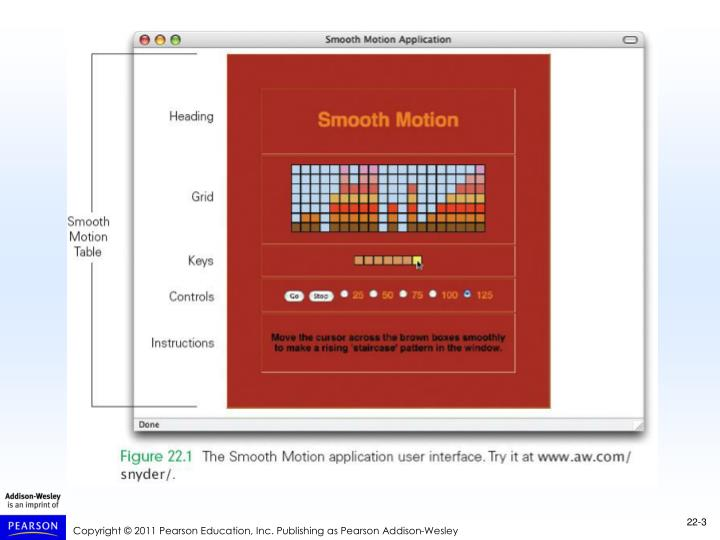 The smooth motion application