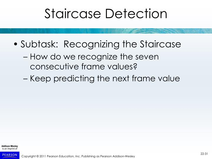 Staircase Detection