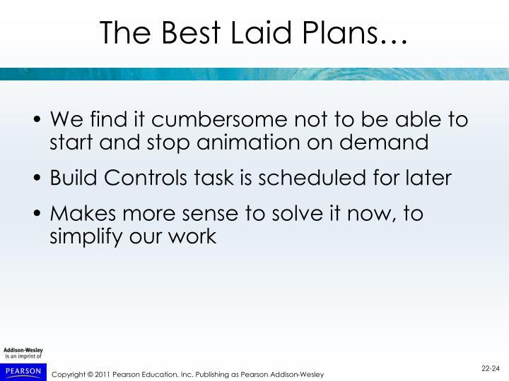 The Best Laid Plans…