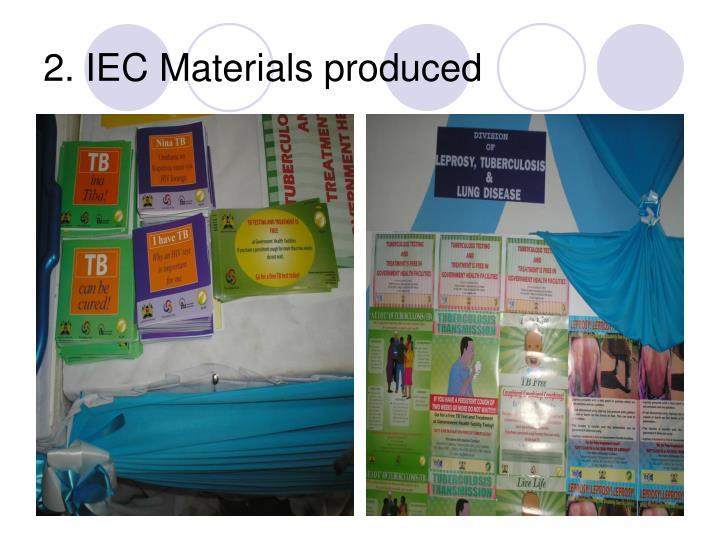 2. IEC Materials produced