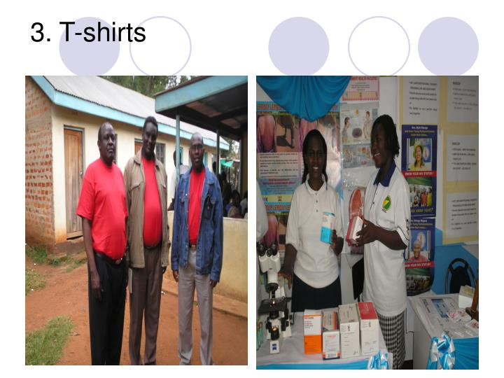 3. T-shirts