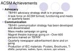 acsm achievements