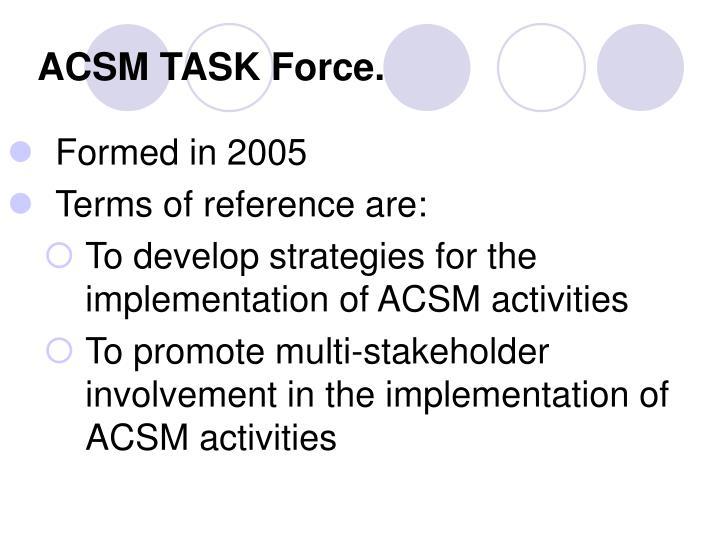ACSM TASK Force.