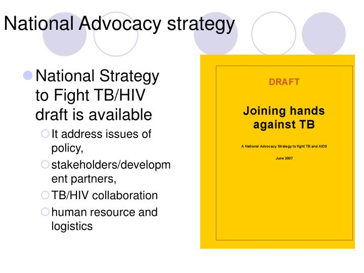 National Strategy to Fight TB/HIV draft is available