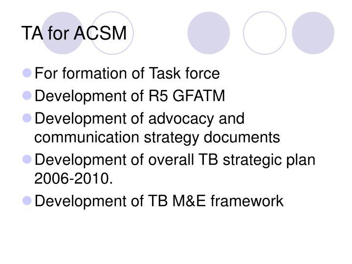 TA for ACSM